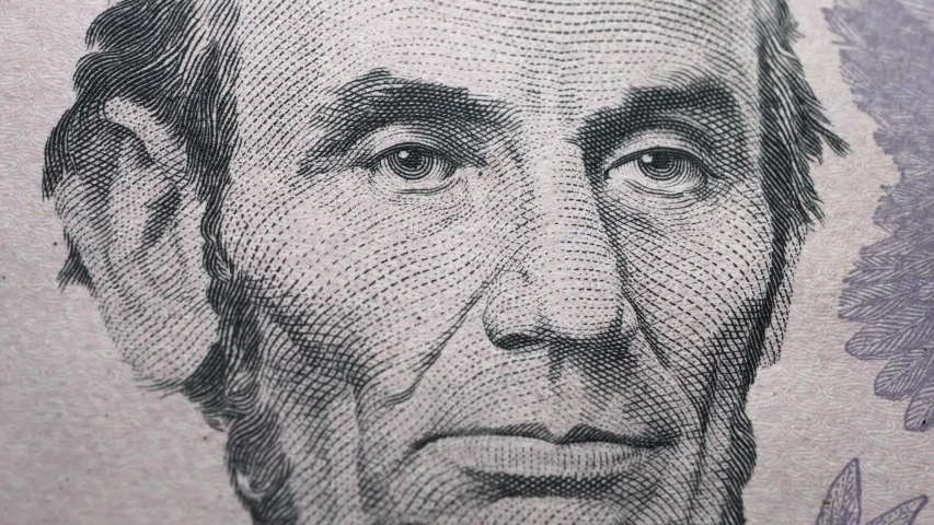 Extreme close up US dollar | Shutterstock HD Video #1044998755