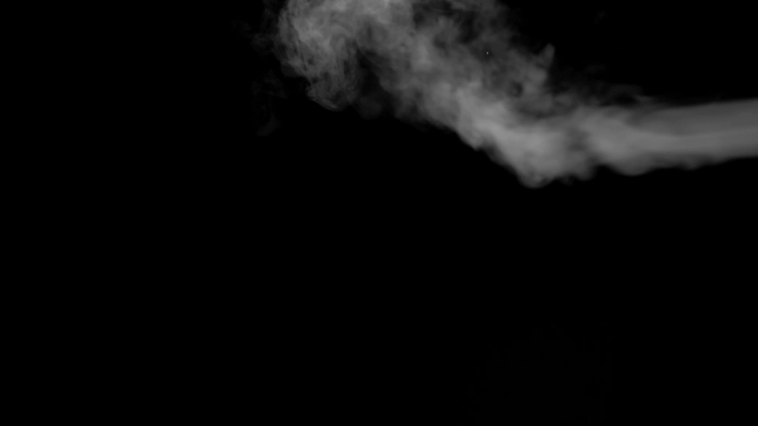 White smoke floating on isolated black background,water spray steam slow motion, Spooky element for halloween day | Shutterstock HD Video #1045028425