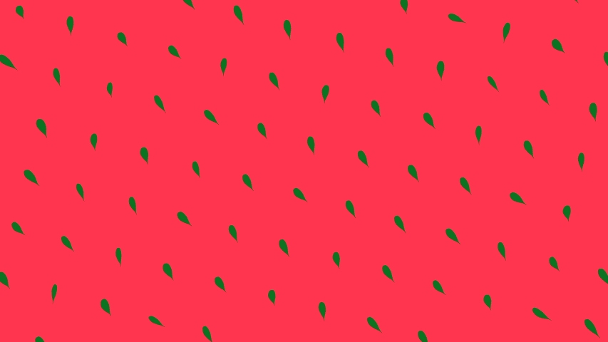 Seamless loop animation. Animation. Abstract colorful pattern of small green leaves rotating and moving down on the red background. Seamless loop animation | Shutterstock HD Video #1045197415