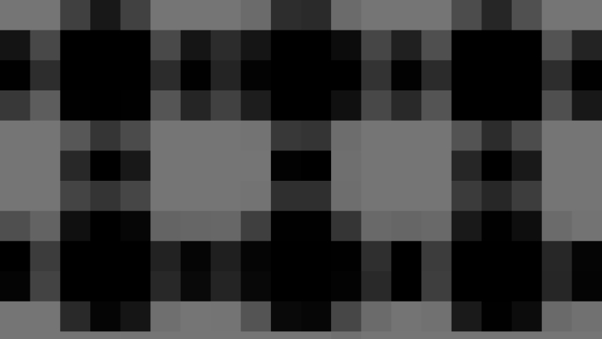 Abstract animation in black and white on a minimal background with mosaic effect, which varies in size, angle and intensity with abstract texture.   Shutterstock HD Video #1045274155