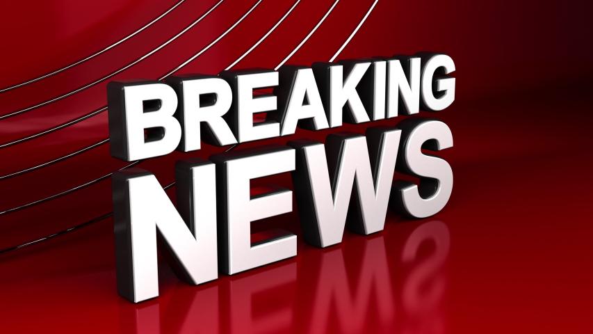 Breaking News 3D Crane Shot Newsroom Animation | Shutterstock HD Video #1046796205