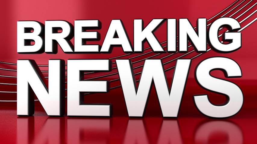 Breaking News 3D Dolly Shot Newsroom Animation | Shutterstock HD Video #1046898385