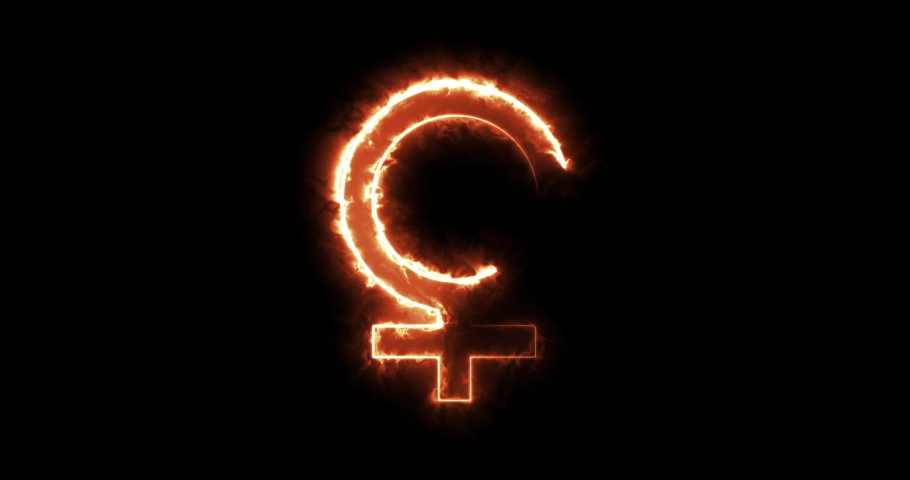 4 different female symbol animations | Shutterstock HD Video #1046929195