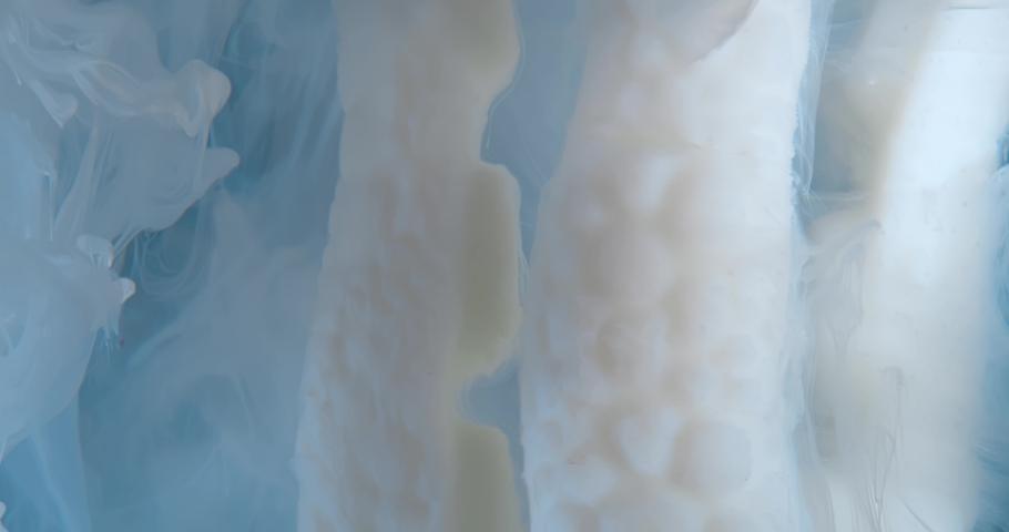 White  Fluid  in Motion underwater. Macro.  Liquids Threads. | Shutterstock HD Video #1046968765