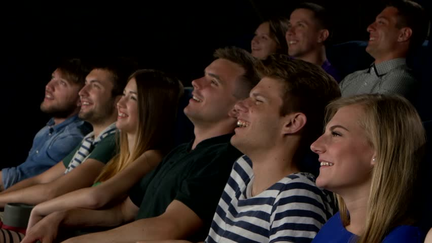 Young People Watch Movies In Cinema, Watch A Comedy In 3D ...