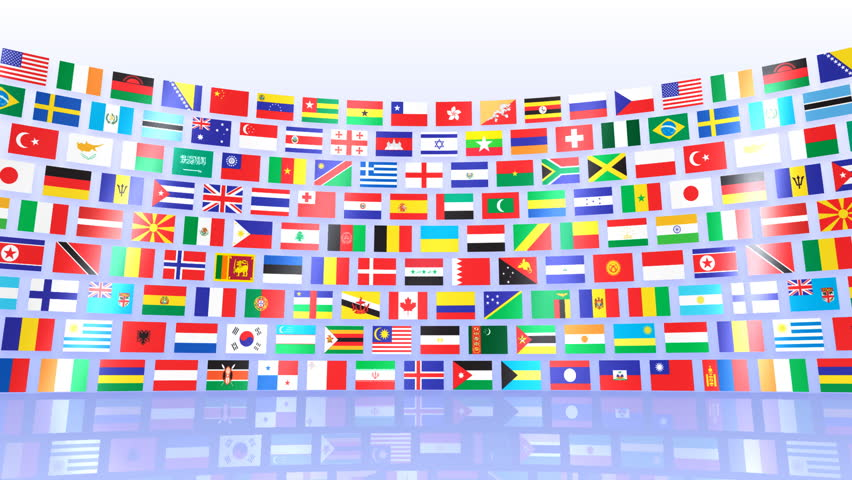 National flag and world map stock footage video 474046 shutterstock world flags hd stock video clip gumiabroncs Images