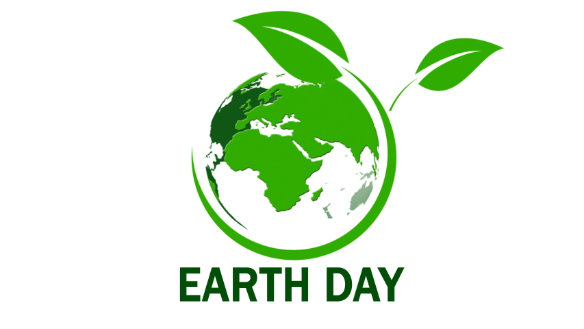 Earth Day. Planet Earth in moving. The world map on white background. 4K Video   Shutterstock HD Video #1049518075