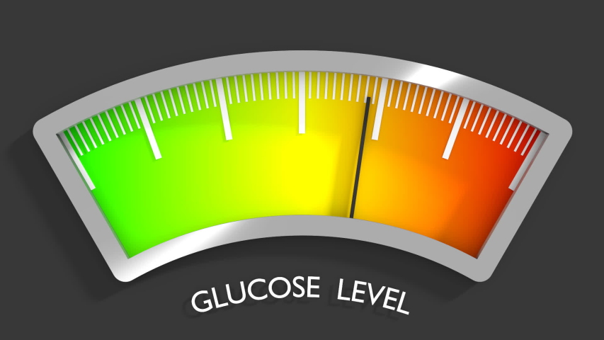 Diabetes risk concept. Glucose level. Abstract scale. 3D rendering | Shutterstock HD Video #1049642425
