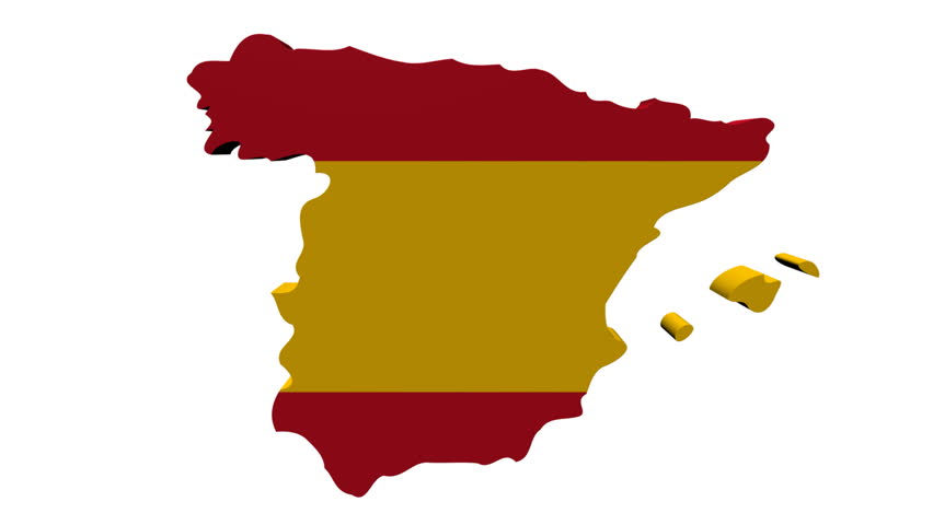 Spain Map Flag.Spain Map Flag With Container Stock Footage Video 100 Royalty Free 1050385 Shutterstock