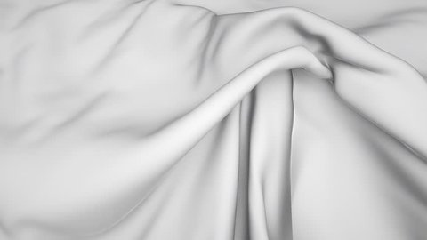 3d flowing white cloth, weaving textile, white silk background with alpha channel