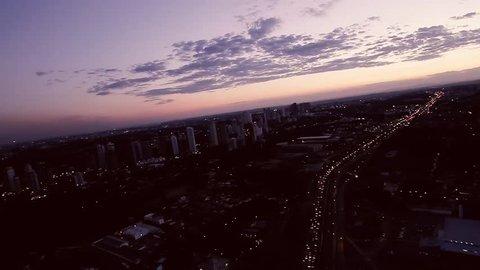 Curitiba, Brazil - city skyline street aerial view day, ecological city, building, entardecer na cidade, lindo por do sol, sunset,