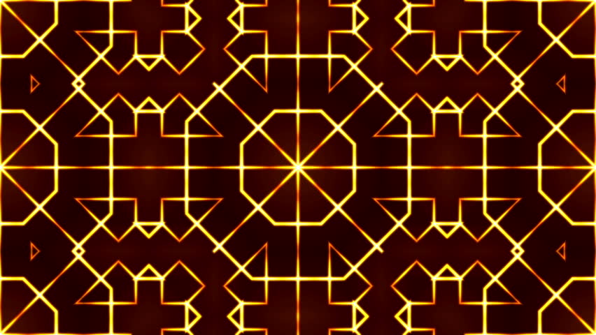 Golden abstract motion background with crossed lines, kaleidoscope | Shutterstock HD Video #10567085
