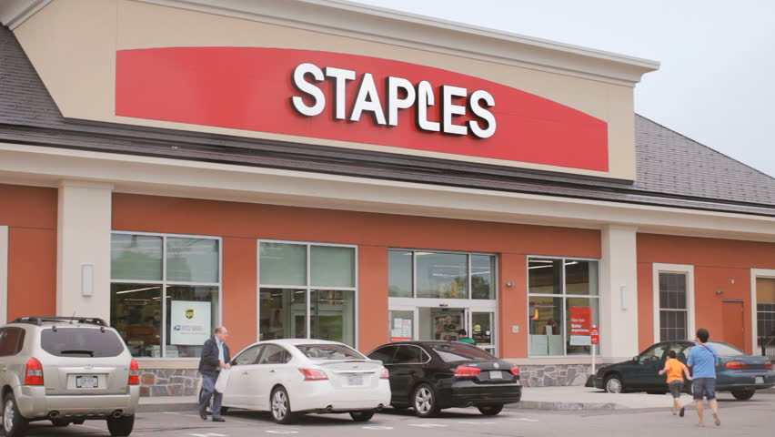 CRANSTON, RI   JUNE 29: Staples Office Supply Retail Store Open For  Business On