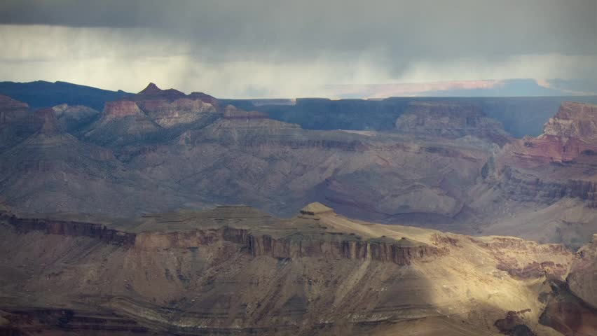 Winter snow storm grand canyon arizona timelapse