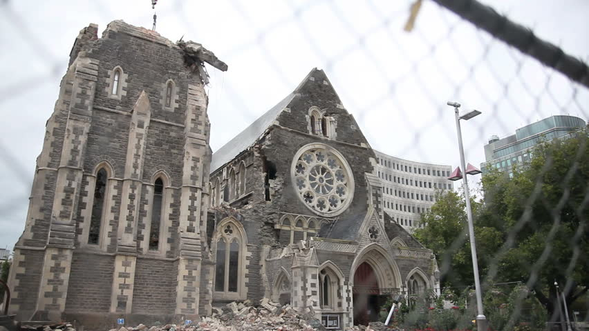 Christchurch Video Hd: FEB 26: Rubble From The Spire