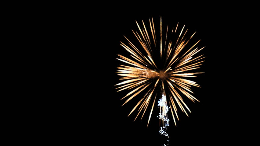 colorful 4th of july slow motion bright beautiful colorful fireworks againts dark night