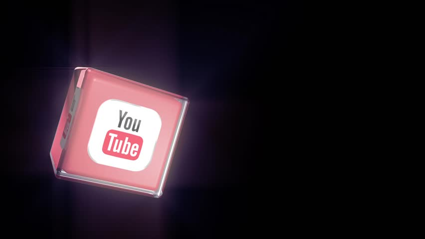 Editorial Animation: 3D Rotating Youtube logo cube