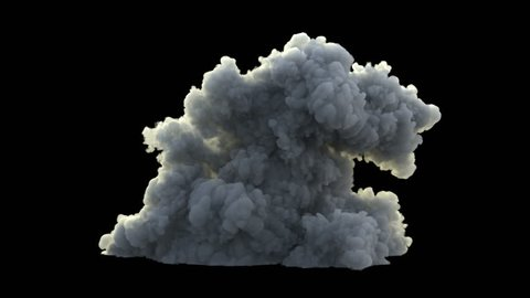 4K huge backlit smoke, on black background, with alpha, ready for compositing (uhd 3840x2160, ultra high definition, 1920x1080, 1080p) high detailed smoke