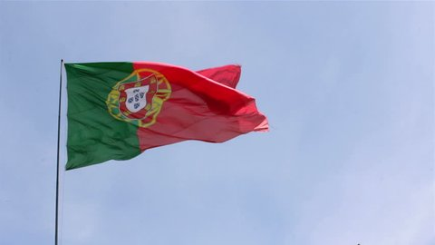 Portugal Flag waving in the wind