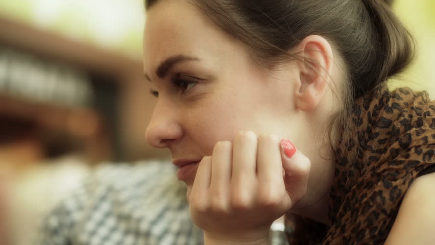 Bored woman sitting and waiting on the airport, steadycam shot  | Shutterstock HD Video #10786085
