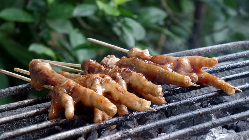 Broiled Chicken Feet Makes An Stock Footage Video 100 Royalty