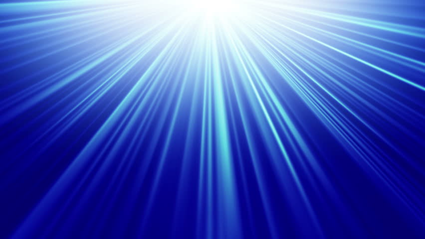 Blue Sun Abstract, Rays Shine From A Bright Center, Illustration ...