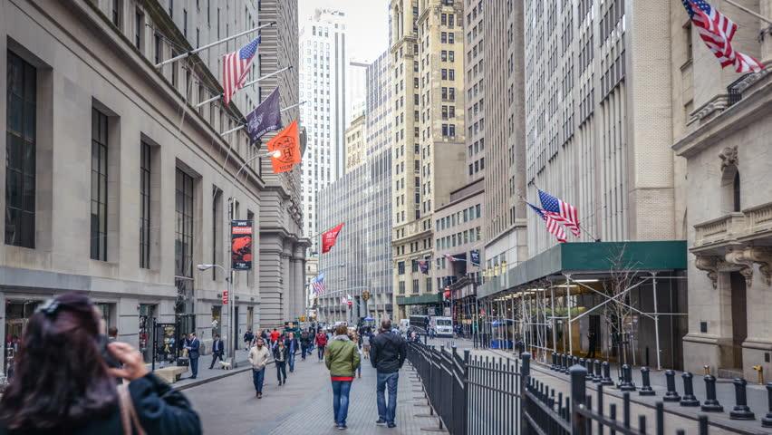 Timelapse of the Wall Street, New York, USA. In 4K. | Shutterstock HD Video #10836875