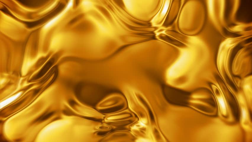 Liquid gold metal surface (seamless looping)   Shutterstock HD Video #10838009