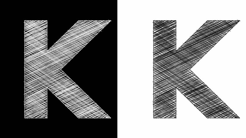 Stock video of art sketched letter k with alpha 10895045 stock video of art sketched letter k with alpha 10895045 shutterstock thecheapjerseys Image collections