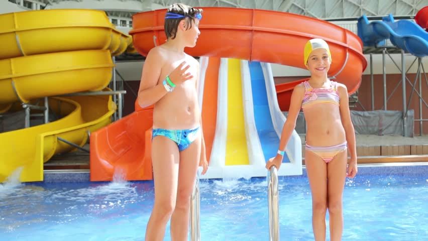 Hot young teen water park think