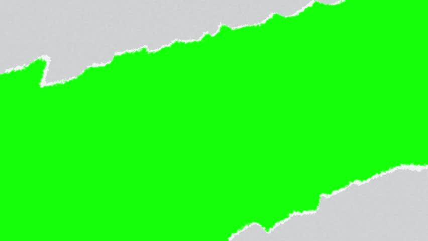 Torn paper green screen 2 in 1