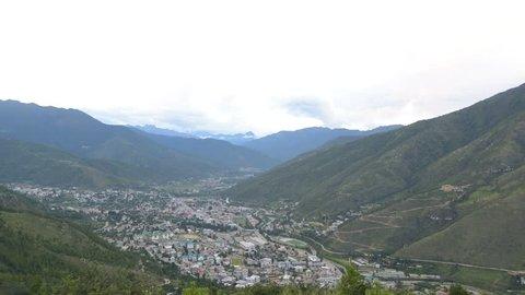 Sunset at Thimphu capital city of Bhutan