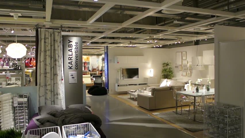 PARIS, FRANCE   CIRCA 2015: IKEA Furniture Store And Customers Browsing  Through Its Furniture