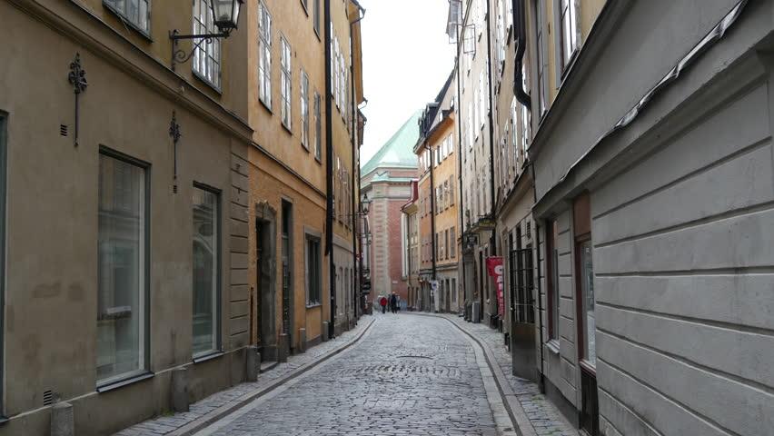 Street in Gamla Stan Old town Stockholm Sweden | Shutterstock HD Video #11137655