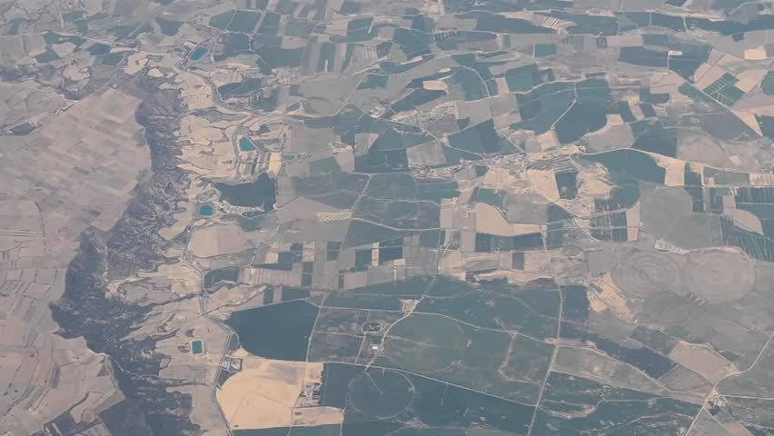 Aerial view of a river and agricultural fields in inland Spain, July 2015  | Shutterstock HD Video #11184311