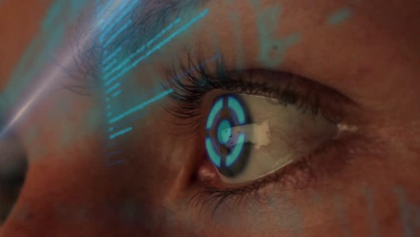Futuristic Hacker Coding