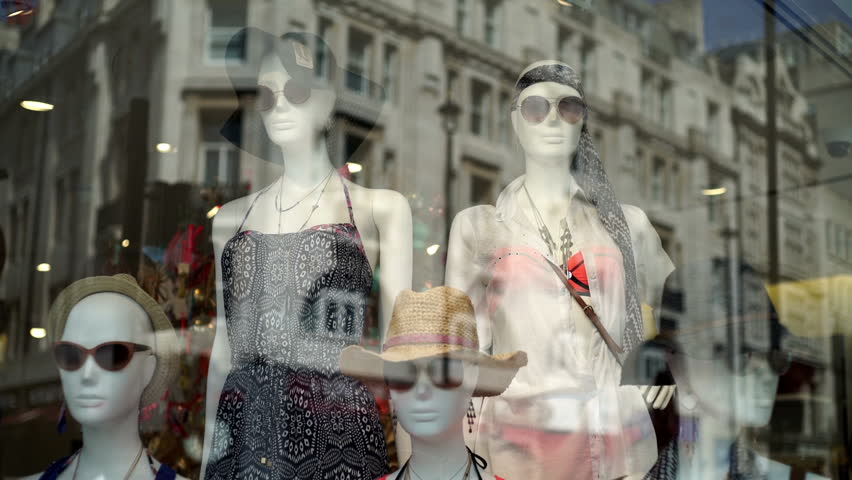 Shop window dummies wearing sunglasses.