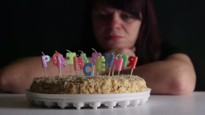 Stock video of sad woman looking at birthday cake 11258165 stock video of sad woman looking at birthday cake 11258165 shutterstock altavistaventures Image collections