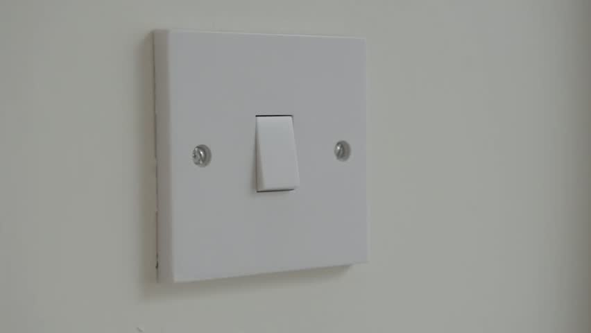 Footage Showing A Light Switch Being Turned On The Is Wall And