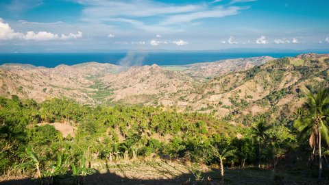 Landscape from Canlaon volcano on Negros island, Philippines