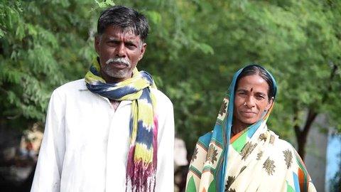 MAHARASHTRA, INDIA July 10, 2015: Rural people lifestyle, July 10, 2015, Salunkwadi, Ambajogai, Beed, Maharashtra, India