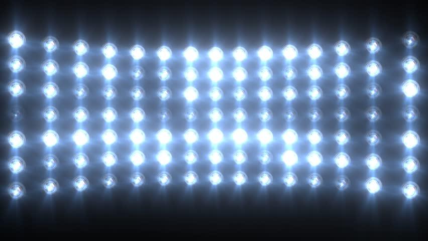 Blue Flashing Lights Stage Sports Stadium Background