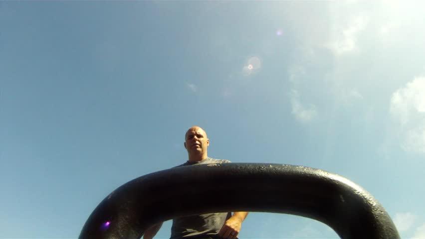Point of view  Kettleball Swings hand focused. #11374685