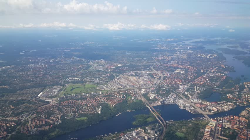 Flying over Sweden towards Stockholm | Shutterstock HD Video #11378075