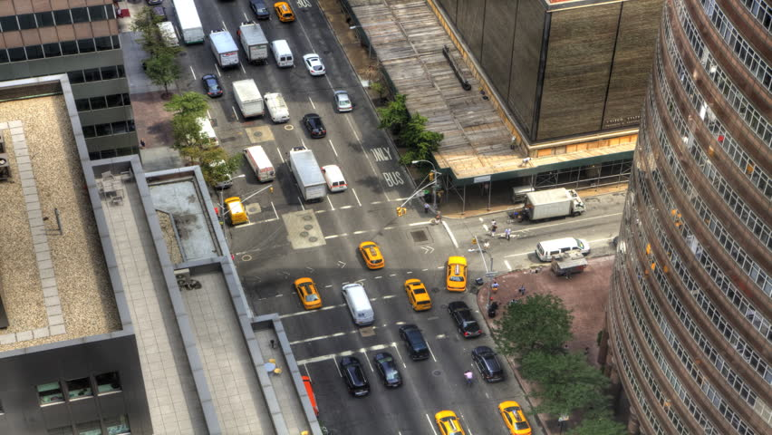 A busy intersection in Manhattan | Shutterstock HD Video #11420345