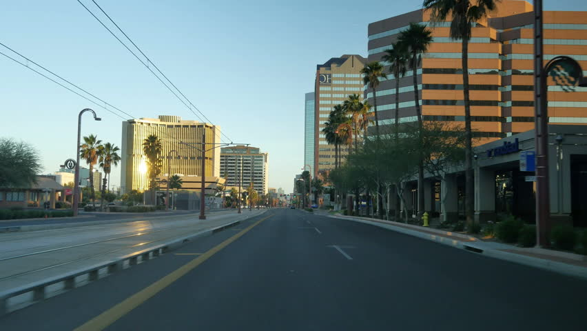 Phoenix Downtown Driving Plate 03 Day to Sunset