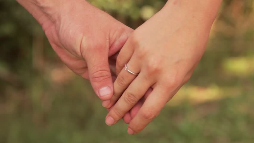 Two Lovers Separating Their Hands Stock Footage Video