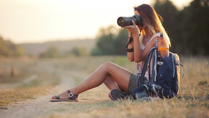 Beautiful Young Woman Journalist in Stock Footage Video ...