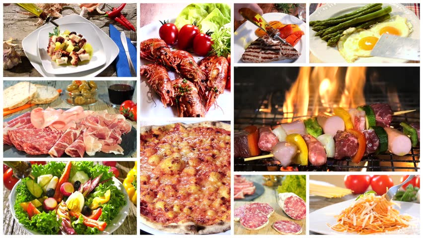 Italian food montage stock footage video 10933934 shutterstock various delicious food recipes collage hd stock video clip forumfinder Choice Image