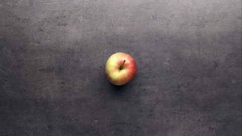 Eating apple bite by bite, stop motion animation